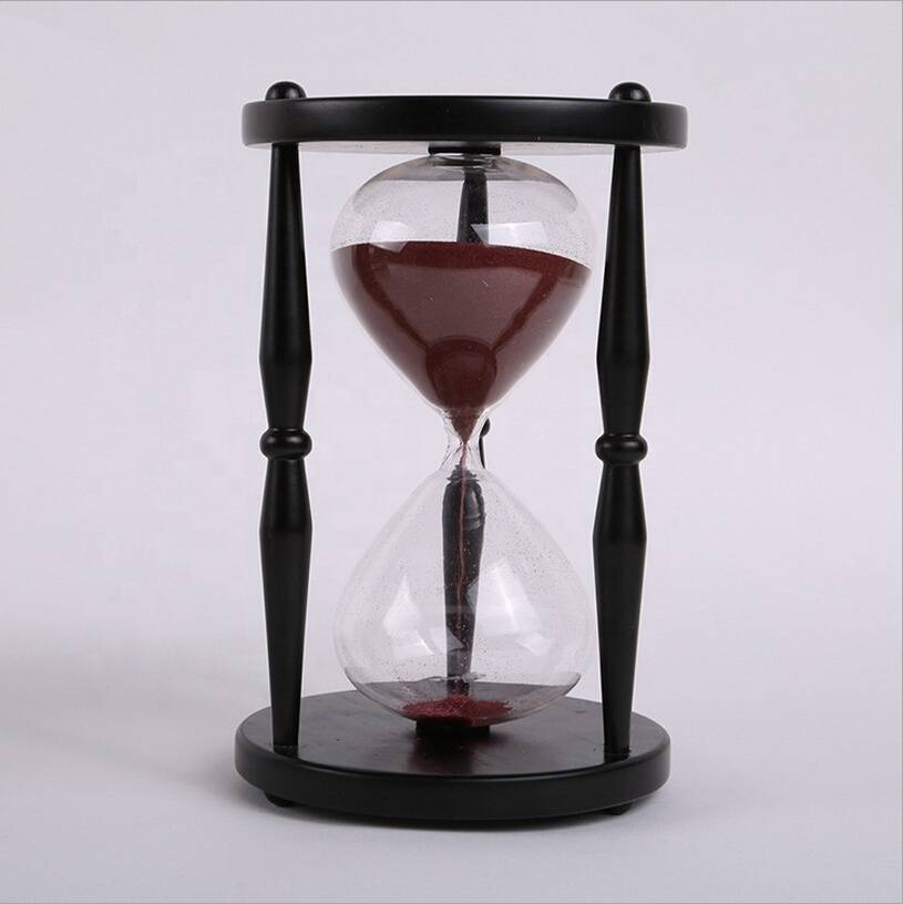 Hot sales High quality large solid wood hourglass sand timer