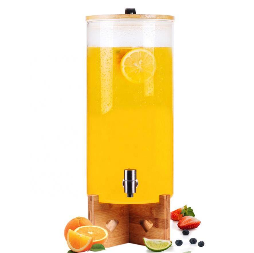 High quality Best Sales Cold drinking 5L 8litre water wine drinking dispenser bottle glass jar with tap