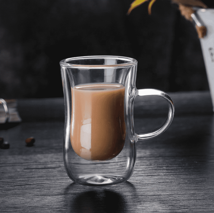 Wholesale Cheap Custom Borosilicate Double Wall Turkish Tea Glass Cups Coffee Glass Cup With Handle