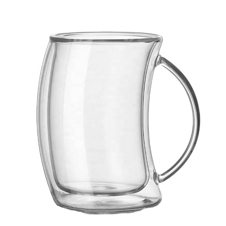 high borosilicate glass cup double wall glass cup Clear Coffee Glass Mug For Hotel Home