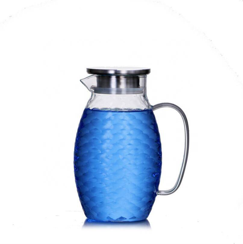 large capacity glass cold water pot