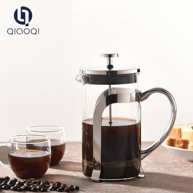 Hot sales high borosilicate french press coffee  with stainless steel filter