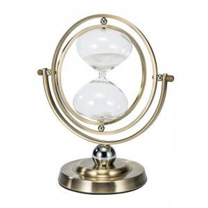 Amazon Hot Sale Rotating 15/30 Minutes Hourglass,Metal Hour Glass Sand Timer for Vintage Home Decor Wedding Gift