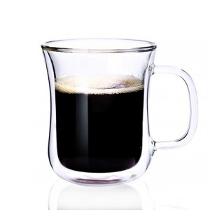Insulated Double Wall Clear Glass Coffee Latte Tea Cups Coffee Latte Espresso Cappuccino Cups