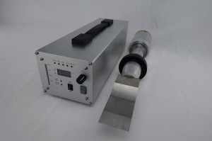 High Power 20Khz Ultrasonic Cutting Machine , Ultrasonic Rubber Cutter Assembled