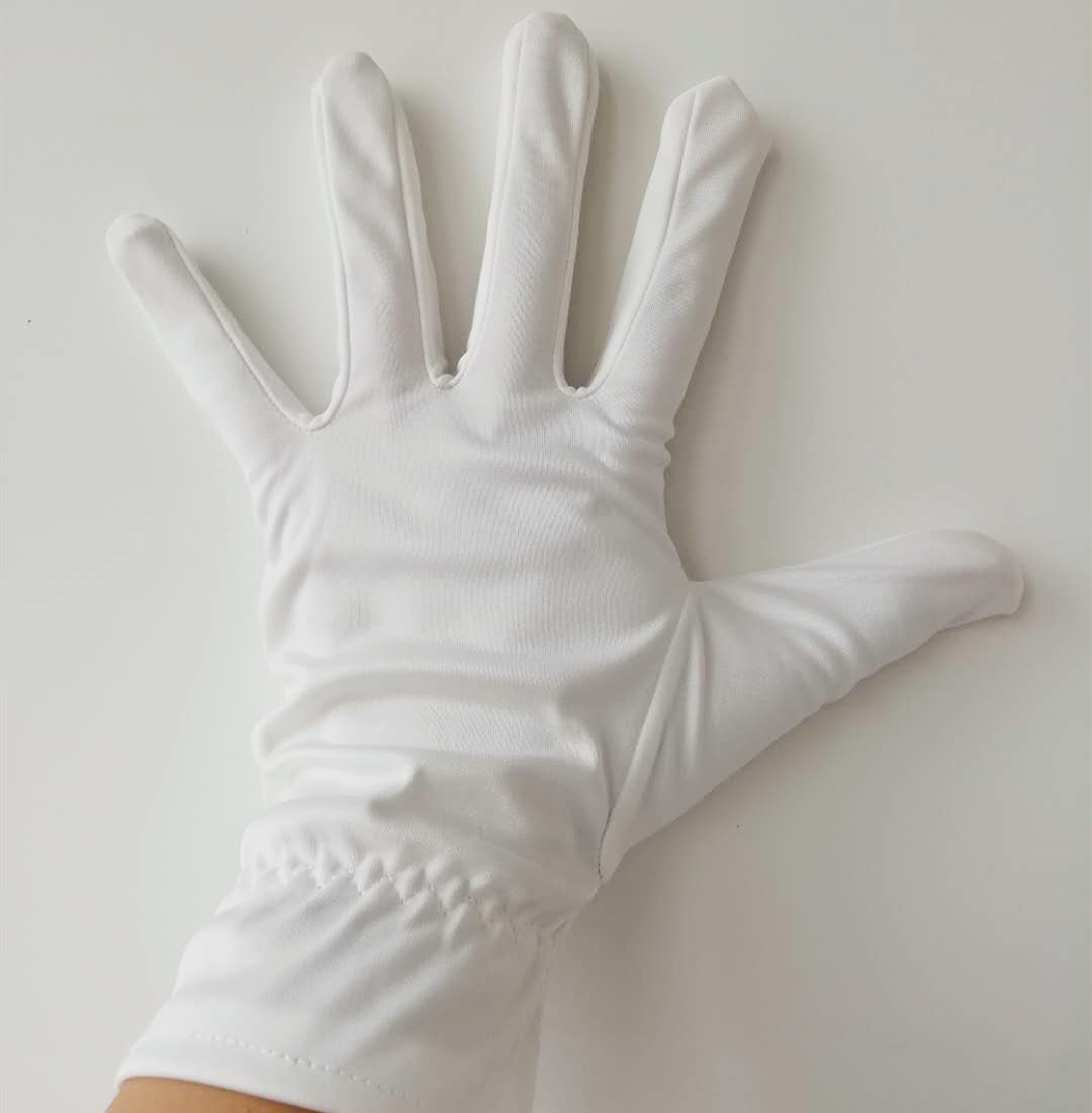 ustomizable logo polishing super microfiber jewelry white polyester gloves Featured Image