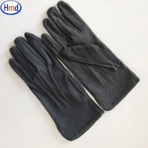 White Parade Band Uniform Formal Ceremony cotton gloves with dots on palm Item No.: HMD-30