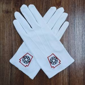 100% Cotton Masonic White Gloves
