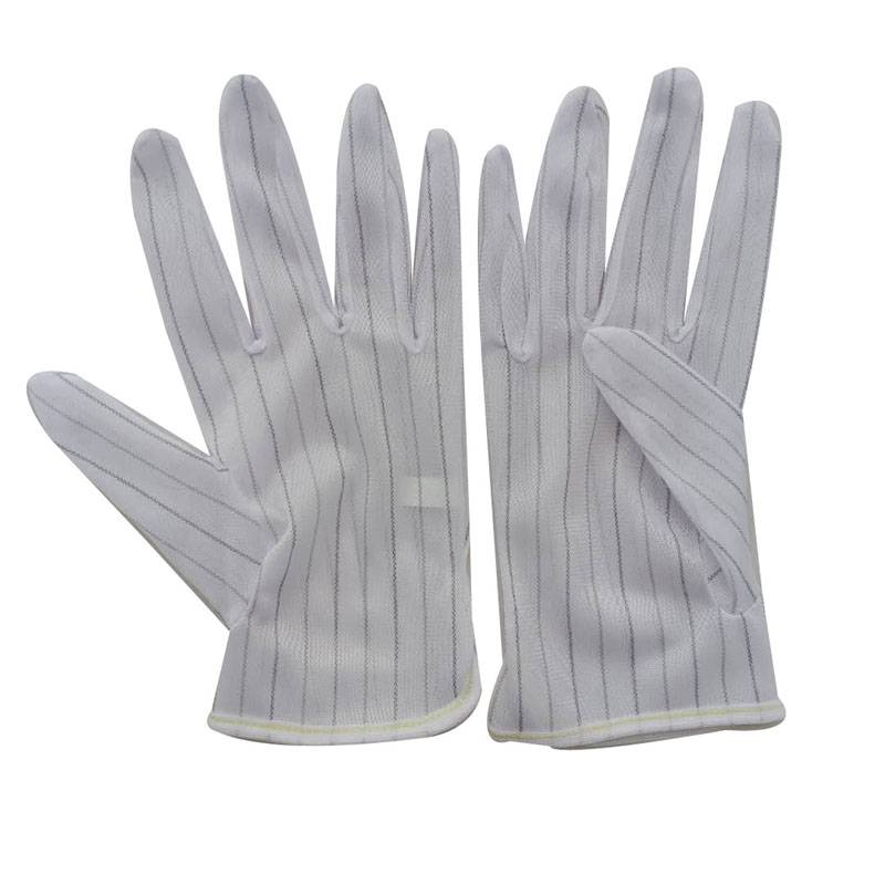 ESD Dotted Gloves With Polyester Fabric Conductive Yarn