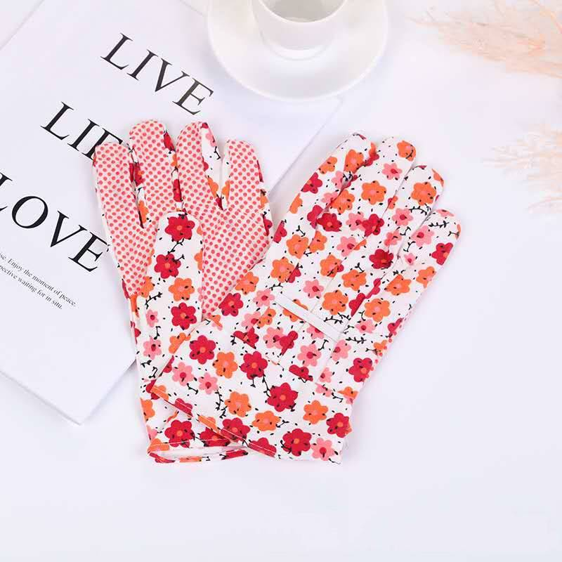 Roping PVC Dotted Cotton Knitted Garden Hand Safety Work Working Gloves, Cotton Plastic Gloves