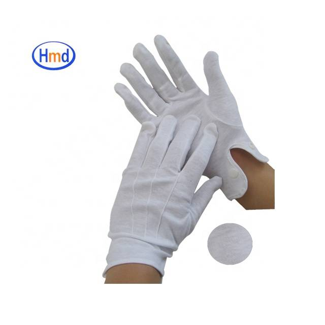 Wholesale White Cotton Uniform Gloves Ceremony Parade Gloves