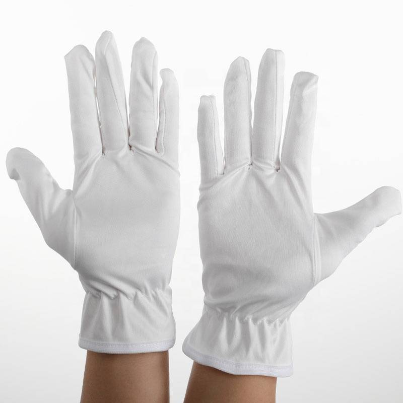 Microfiber polyester working inspection gloves for lights lenses