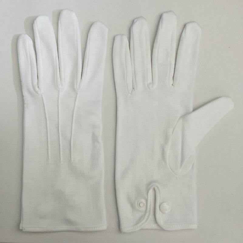 safety working formal wear police uniform waiters staff officer parade hand gloves with snap