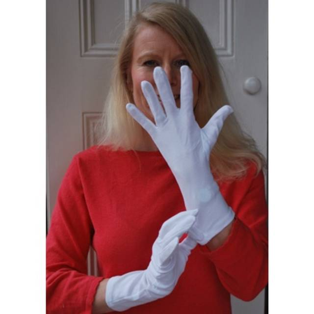 safety working cotton Plain white cotton working gloves for inspection gloves