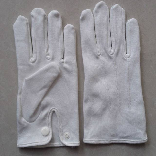 white thin cotton inspection gloves