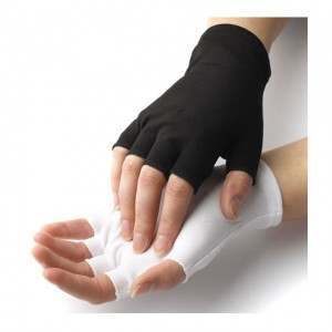 Fingerless Half Finger White Gloves with short wrist Item No.: HMD-2020LF