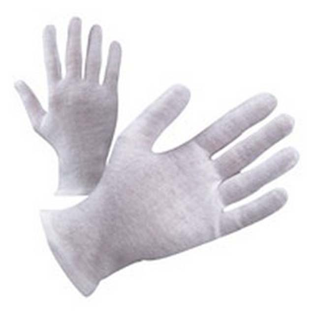 Reasonable price for Cotton Chrome Gloves - white cotton Moisture spa gloves for eczema – Hongmeida detail pictures