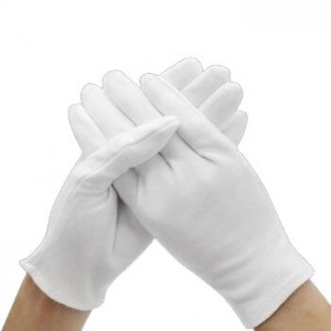 cheap white organic cotton Sleeping Moisturizing night Dry Hands gloves for eczema