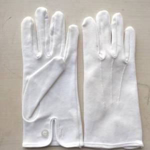 Cotton Mens Interlock Gloves With Elastic Cuf
