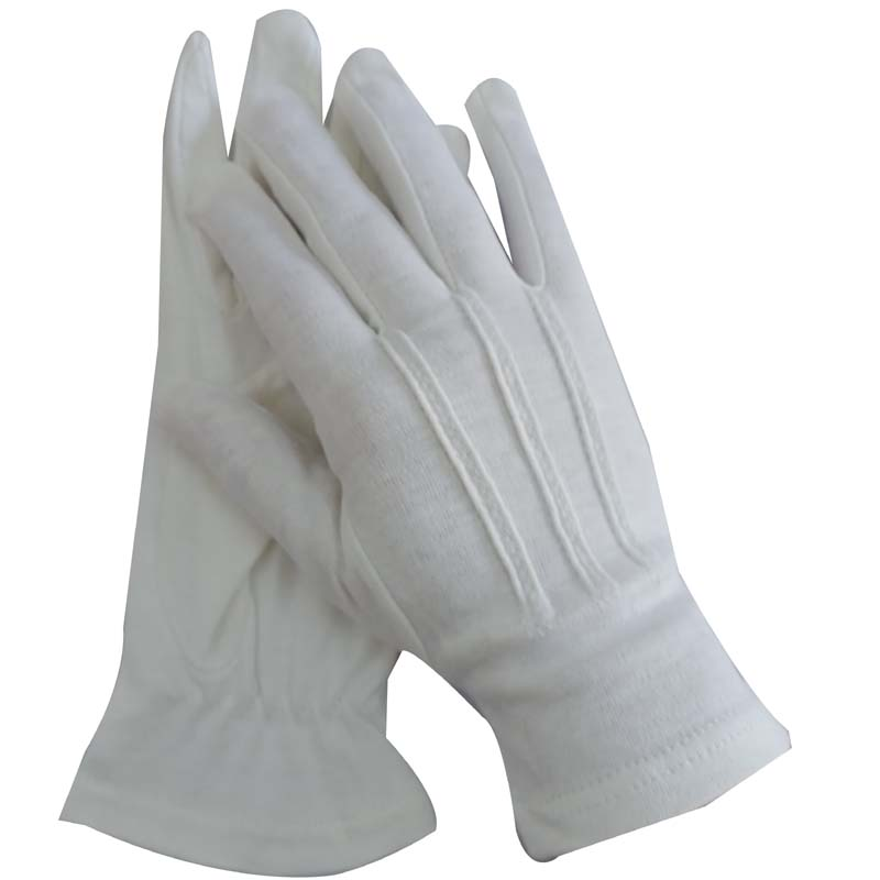 cotton parade and uniform dress gloves for formal occasions by policeman