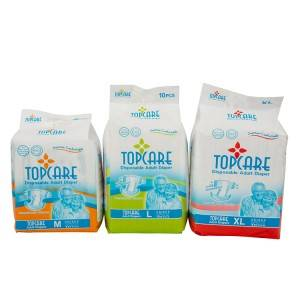 Breathable Comfort Ultra Thin Pe Film Hospital Sample Pack Disposable Adult Diaper Chinese Supplier