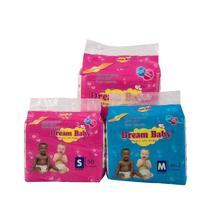 Factory export various size non woven fabric wholesale baby disposable diapers Featured Image