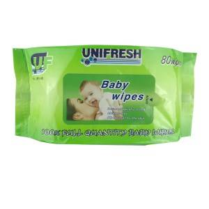 Spunlaced non-woven fabric no stimulation oem wet tissue sensitive and newborn skin unscented wet wipes