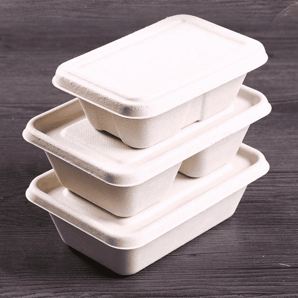 Disposable degradable lunch boxes Four types
