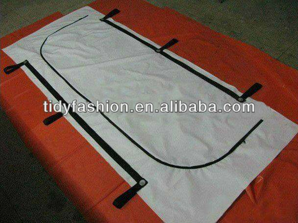 dead PVC body bag with handle