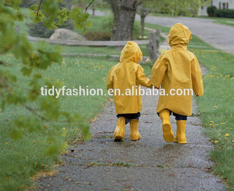 Reusable Yellow Kids Rain Coat