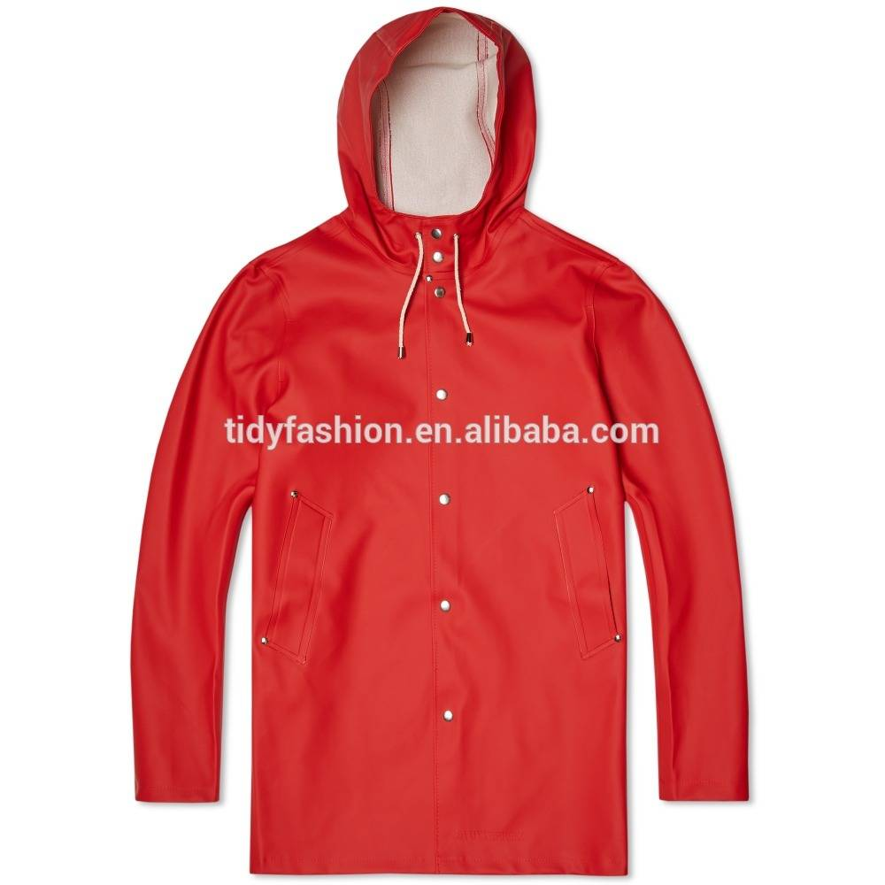 High definition Raincoats For Juniors With Hood - Fashion PU Rain Jacket For Men – Tidy