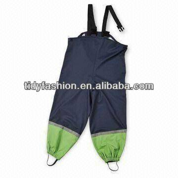 Cheapest Price Anorak Rain Coat - PU/ PVC Kids Rain Bib Pants – Tidy