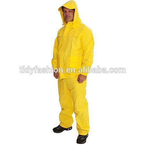 Durable Waterproof pvc rain coat in dubai uae pvc rain suit in dubai