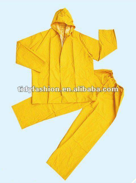 blue pvc raincoat 100%waterproof