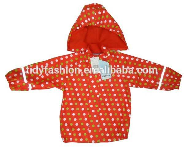High Quality for Ladies Raincoats Sale - Waterproof Cute Hooded Durable PU Kids Raincoat – Tidy