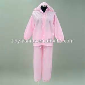Ladies Fashion PVC Cover All Waterproof Slicker Suit