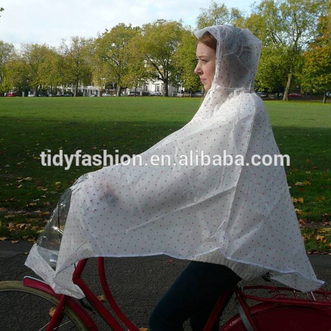 Waterproof Hooded Rain Poncho PVC Bicycle Raincape