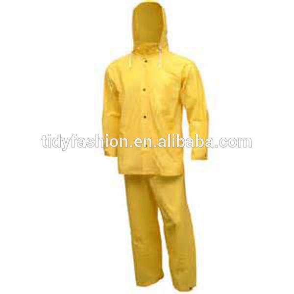 Yellow Adult Custom Printed PVC Water Proof Rain Suit