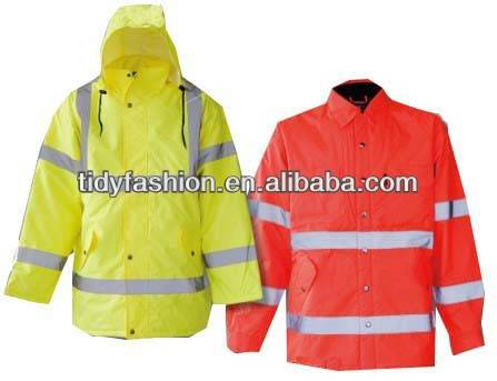 High Visibility Rain Jacket Reflective Police Raincoat