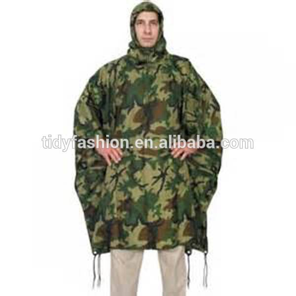 Mens Military Waterproof Long Extra Large Rain Poncho