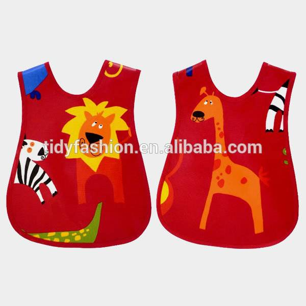 Cute Elephant Print Kids Aprons Cheap Wholesale Aprons