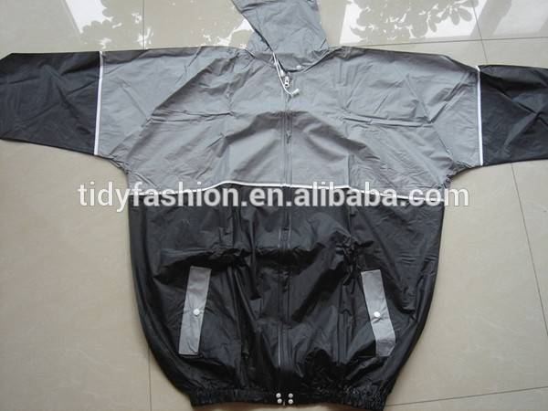 Mens PVC Raincoat for Motorcycle Riders