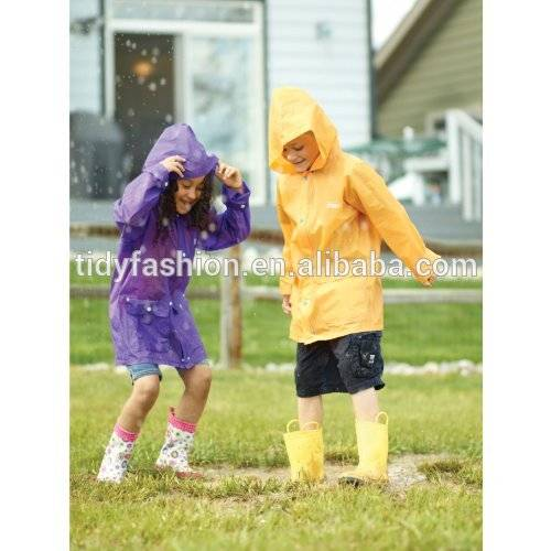 Allover Printing Dot Kids Raincoat Sale