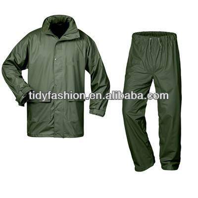 100% Waterproof Rainsuit, PU Working Rain Suit