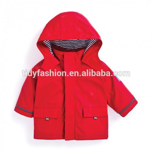 Hot New Products Womens Raincoats Waterproof - Waterproof Cute Hooded Kid PU Raincoat – Tidy