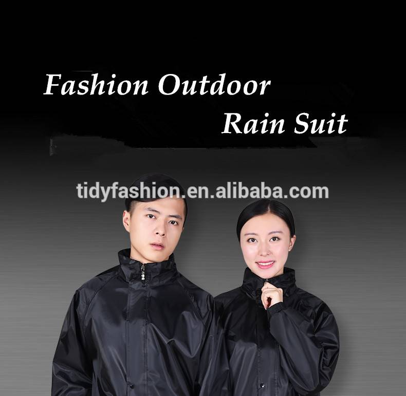 Thermal Waterproof Polyester Rain Suit for Motorbike