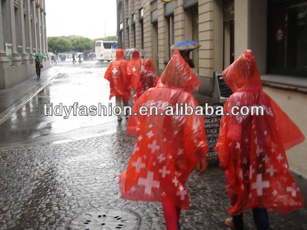 Promotional Emergency Rain Poncho For Outside