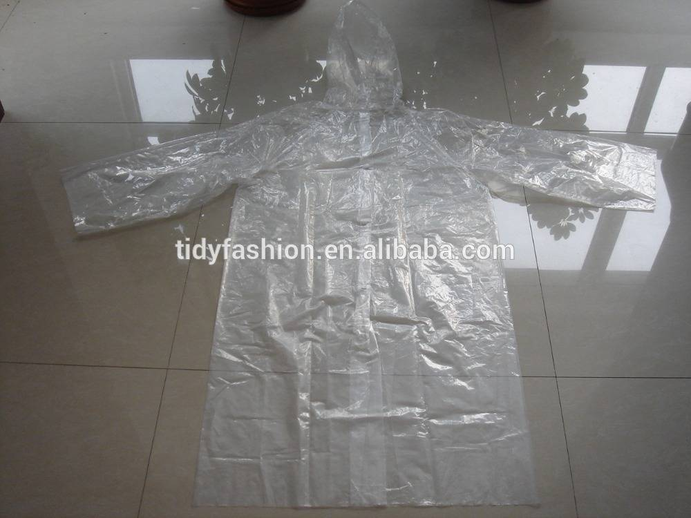 Emergency Waterproof Disposable Clear Plastic Rain coat