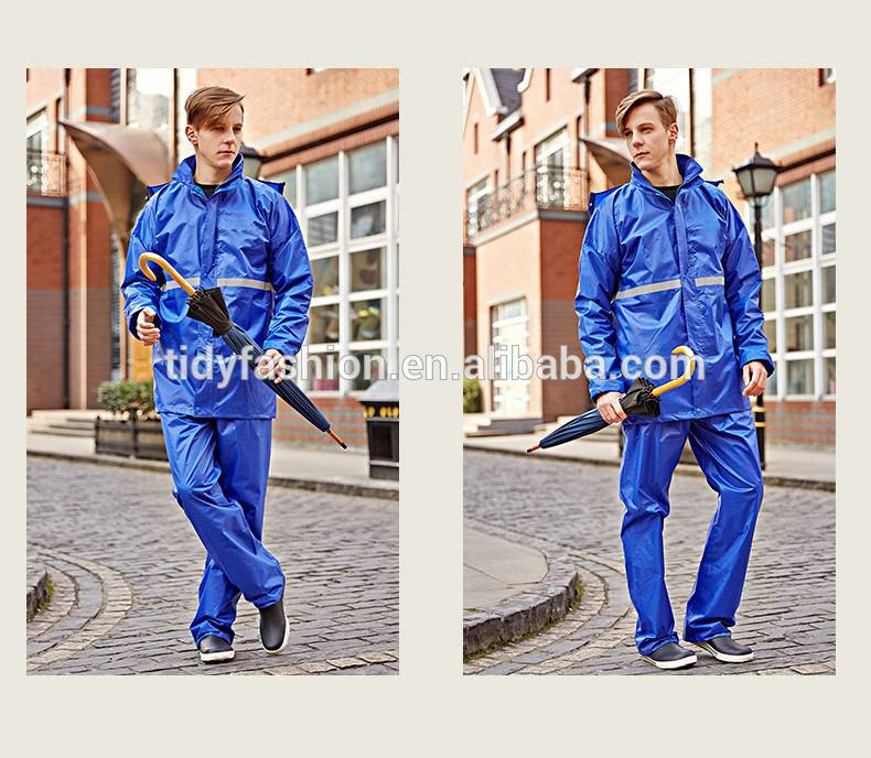 Adult High Quality Polyester or Nylon Waterproof Rainsuit