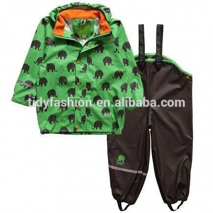 Waterproof PU Soft & Light Children Rainsuit
